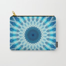 Light blue and white mandala Carry-All Pouch