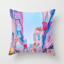 Anime Seoul Throw Pillow