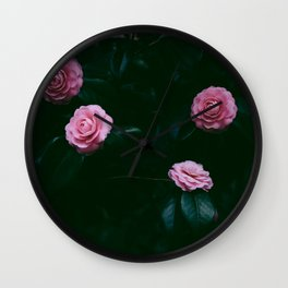 pink roses #society6 #decor #buyart Wall Clock