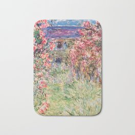 "Claude Monet ""House among the Roses"", 1917 - 1919 Bath Mat"