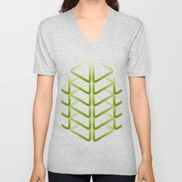 Triangle_line_shape_durian_green01 Unisex V-Neck