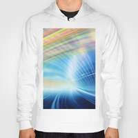 halo Hoodies featuring Colorful Halo by Tom Lee
