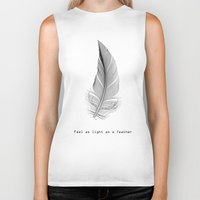 xbox Biker Tanks featuring Feel as light as a feather by eARTh