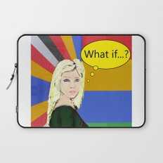 What if...popart female portrait Laptop Sleeve