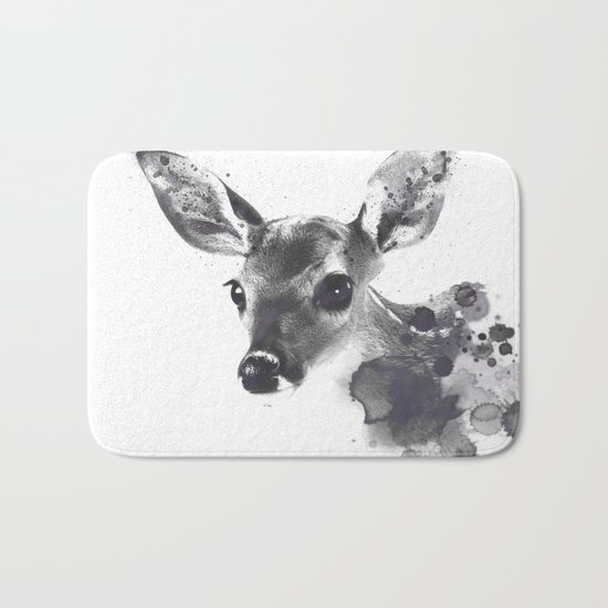 Watercolor Deer Bath Mat