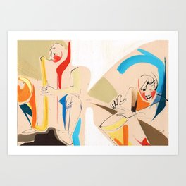 Jazz Groovy Musicians Playing Art Print