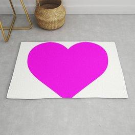 Heart (Magenta & White) Rug