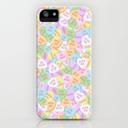 Sweet Hearts Valentine's Day Candy iPhone Case
