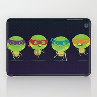 turtles iPad Cases featuring Turtles by Maria Jose Da Luz