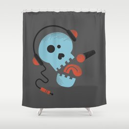 Calavera rockera / Rocking skull Shower Curtain