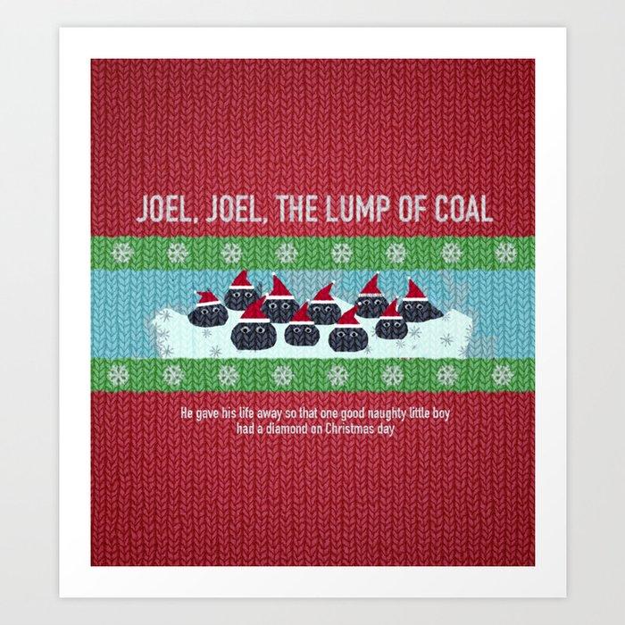 Lump Of Coal For Christmas.Lump Of Coal Christmas Sweater Art Print