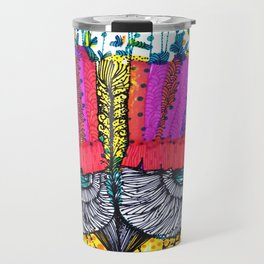 The owl and the flowers Travel Mug