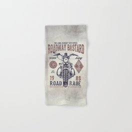 Vintage Motorcycle Poster Style Hand & Bath Towel