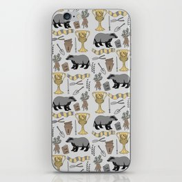 Badger house school for witches and wizards magic grey iPhone Skin
