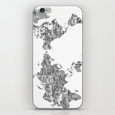 Passport Stamp Map 1 iPhone & iPod Skin
