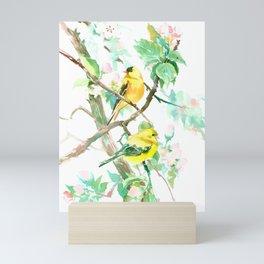 American Goldfinch and Apple Blossom Mini Art Print
