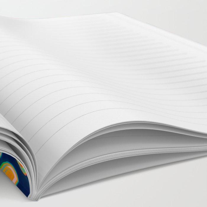 Boho Navy and Brights Notebook