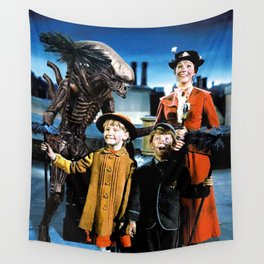 Alien in Mary Poppins Wall Tapestry