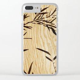Japanese bamboo buddha wood art Clear iPhone Case