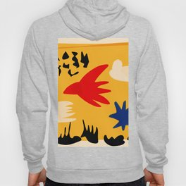 Yellow day abstract african art Hoody