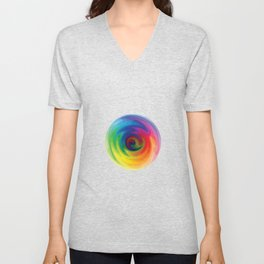 Abstract Art - Color Theory Unisex V-Neck
