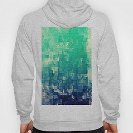 Green Teal Blue Pixels Hoody