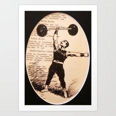 Muscle Man Art Print