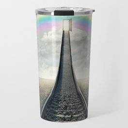 railroad to rainbow Travel Mug