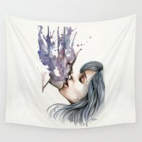 illusion Wall Tapestries featuring Illusion by Elena Tsuya