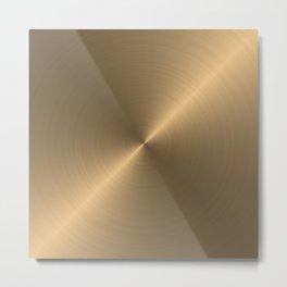 Circular metal brushed texture Metal Print