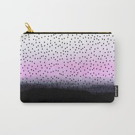 dots on pink view Carry-All Pouch