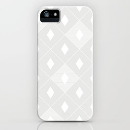 Harlequins Pattern - Ghost White iPhone Case