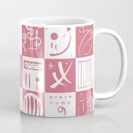 Kandinsky - White and Rose Pattern - Abstract Art Coffee Mug
