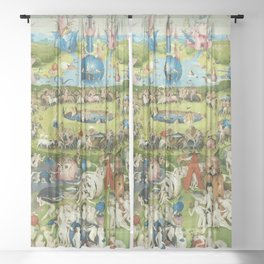 The Garden of Earthly Delights by Hieronymus Bosch Sheer Curtain