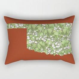Oklahoma in Flowers Rectangular Pillow