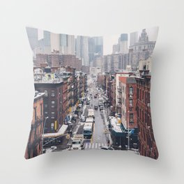 NYC Winter Throw Pillow