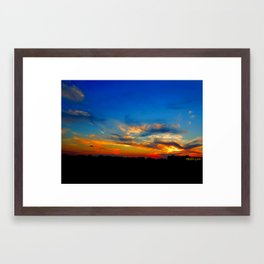 Sunset Colors Framed Art Print