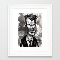 tom waits Framed Art Prints featuring Tom Waits by Grant Hunter