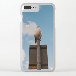 The seagul is watching us Clear iPhone Case