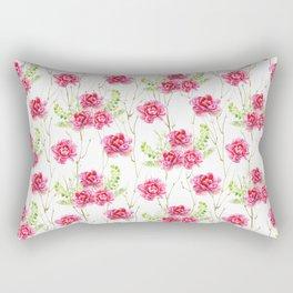 Watercolor Flower and leaf design, Floral pattern, nature art watercolor art beautiful floral design Rectangular Pillow
