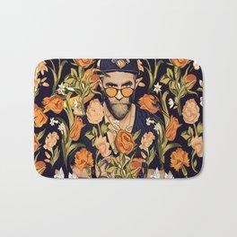 Floral New York fan Bath Mat