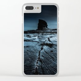 Earth Crack Clear iPhone Case