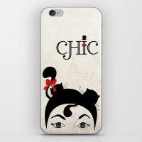 chic iPhone & iPod Skins featuring Chic by Aleksandra Mikolajczak
