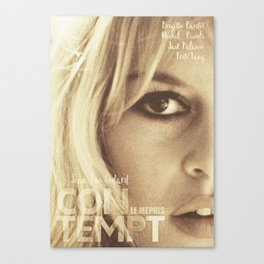 Brigitte Bardot, Contempt, movie poster, Le Mépris, Jean-Luc Godard, Fritz Lang, Canvas Print