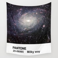pantone Wall Tapestries featuring PANTONE - The milky way by Et Voilà
