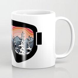 Snow Sport Sunset | Ski and Snowboard Series | DopeyArt Coffee Mug