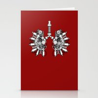 lungs Stationery Cards featuring lungs by khet13