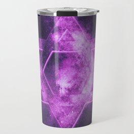 Magen David symbol, Star of David. Abstract night sky background. Travel Mug