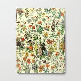 Adolphe Millot- Vintage Flowers Print Metal Print