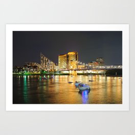 Covington and the Roebling Bridge Art Print